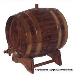 3 liter whiskey maturing casks, 3/4 gal charred oak wood barrels 3L