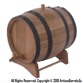 10 liter toasted oak wood barrels and casks for wine making and ageing with black hoops